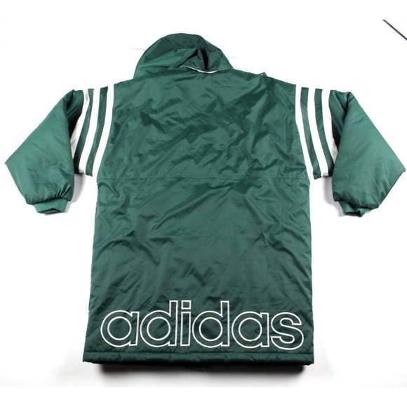 7ff37f36 Adidas Jackets & Coats | Vintage 90s Mens Large Green Hooded Jacket ...